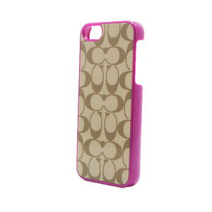 Funda Para iPhone 5 o 5s Coach Signature Khaki / Pink