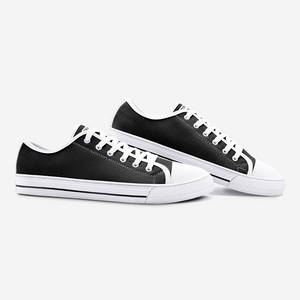 Unisex Low Top Canvas Shoes - Shadow