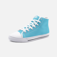 Load image into Gallery viewer, Unisex High Top Canvas Shoes - Light Blue
