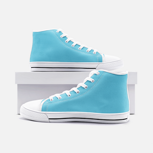 Unisex High Top Canvas Shoes - Light Blue