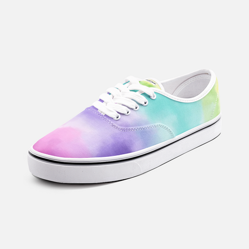 Unisex Canvas Low Cut Loafer Sneakers - Watercolor