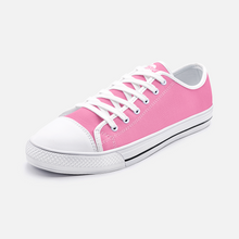 Load image into Gallery viewer, Unisex Low Top Canvas Shoes - Pink