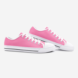 Unisex Low Top Canvas Shoes - Pink