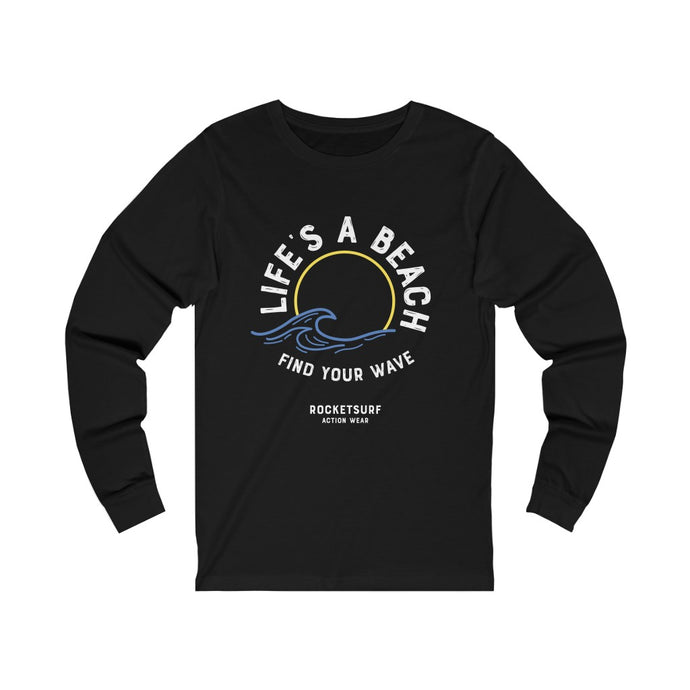 Life's A Beach Find Your Wave Unisex Long Sleeve Tee