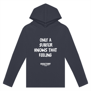 Only A Surfer Knows Adult Lightweight Long Sleeve Hooded Tee