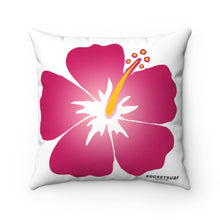 Load image into Gallery viewer, Spun Polyester Square Pillow Red Flower
