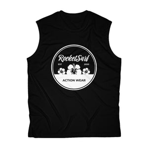 RocketSurf White Flowers Men's Sleeveless Performance Tee
