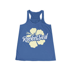 Women's Yellow Flower Flowy Racerback Tank