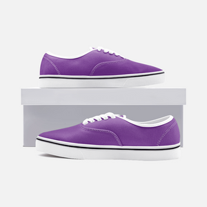 Unisex Canvas Low Cut Loafer Sneakers - Grape