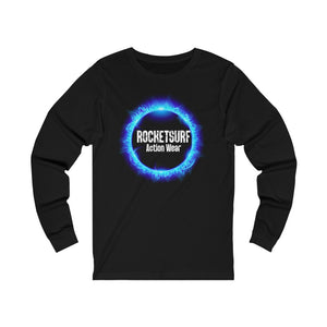 Unisex Jersey Long Sleeve Skate Tee - Blue Flame