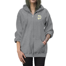 Load image into Gallery viewer, Unisex Zip Up Hoodie Yellow Flower