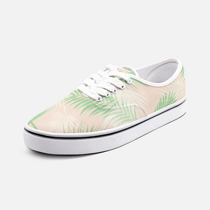 Unisex Canvas Low Cut Loafer Sneakers - Palm Leaves