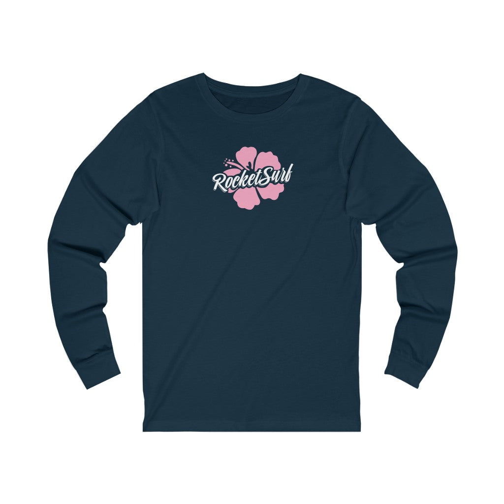 Unisex Jersey Long Sleeve Tee Pink Flower