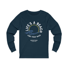 Load image into Gallery viewer, Life's A Beach Find Your Wave Unisex Long Sleeve Tee