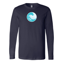 Load image into Gallery viewer, Long Sleeve Shirt Wave Logo