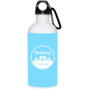 RocketSurf  20 oz. Stainless Steel Water Bottle - White Flowers