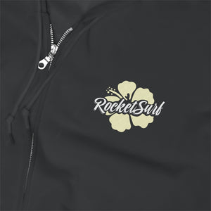 Unisex Zip Up Hoodie Yellow Flower