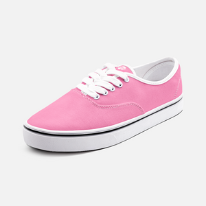 Unisex Canvas Low Cut Loafer Sneakers - Pink