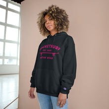 Load image into Gallery viewer, Champion Hoodie - RocketSurf Skate Club Magenta Lettering