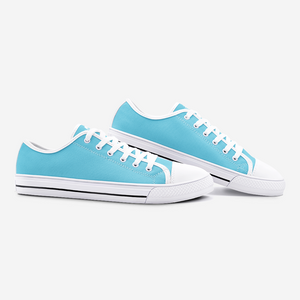 Unisex Low Top Canvas Shoes - Light Blue