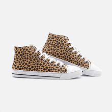 Load image into Gallery viewer, Unisex High Top Canvas Shoes - Cheetah