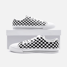 Load image into Gallery viewer, Unisex Low Top Canvas Shoes - Checkerboard