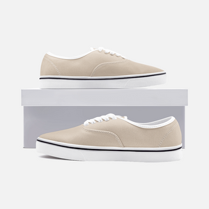 Unisex Canvas Low Cut Loafer Sneakers - Sand