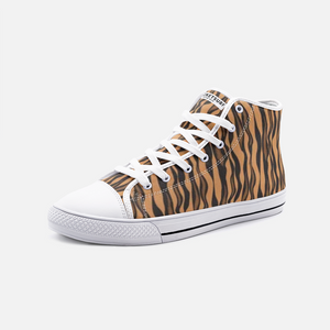 Unisex High Top Canvas Shoes - Tiger