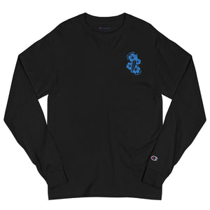 Men's Champion Live Free Live Now - Teal Embroidery