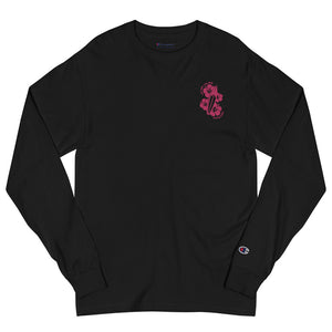 Men's Champion Live Free Live Now - Fuchsia Embroidery