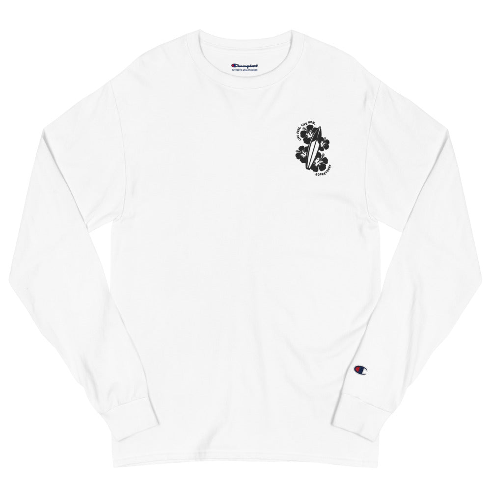 Men's Champion Live Free Live Now - Black Embroidery