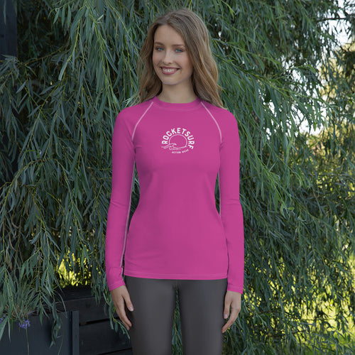 RocketSurf Women's Rash Guard - Fuchsia