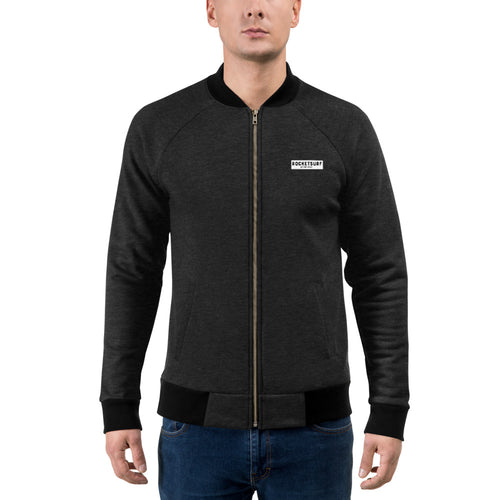 Bomber Style Light Zipper Jacket