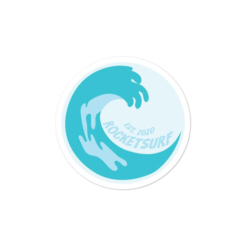 Surfboard Waterproof Vinyl Sticker - Ocean Wave