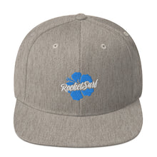 Load image into Gallery viewer, Snapback Hat Blue Flower