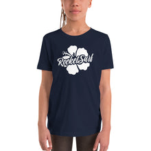 Load image into Gallery viewer, Youth Short Sleeve T-Shirt - White Flower