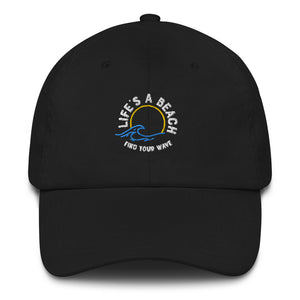Life's A Beach Find Your Wave Dad hat