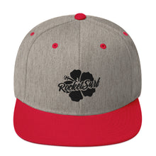 Load image into Gallery viewer, Snapback Hat Black Flower