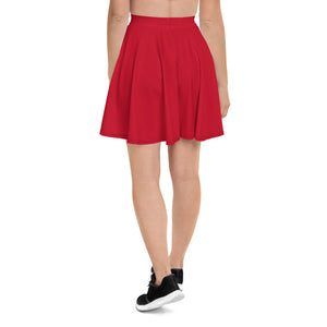 Plain Skater Skirt - Red