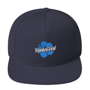 Snapback Hat Blue Flower