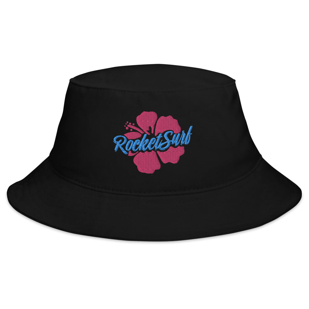 Bucket Hat Pink Flower