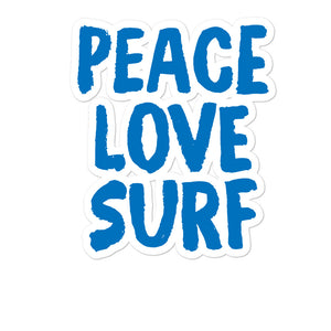 Bubble-free stickers - Peace Love Surf