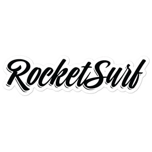 Surfboard Waterproof Vinyl Sticker - RocketSurf script logo