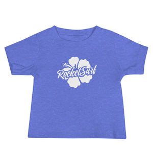 Baby Jersey Short Sleeve Tee - White Flower