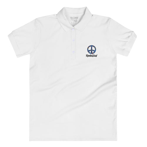 Embroidered Women's Polo Shirt Peace