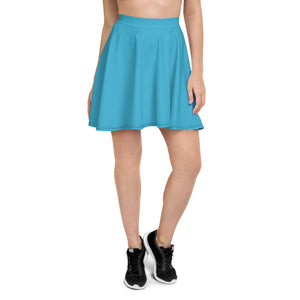 Plain Skater Skirt - Light Blue