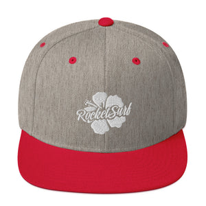 Snapback Hat White Flower