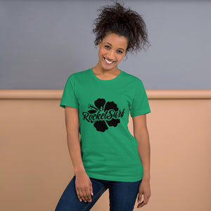 Short-Sleeve Unisex T-Shirt Black Flower
