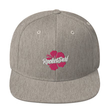 Load image into Gallery viewer, Snapback Hat Pink Flower