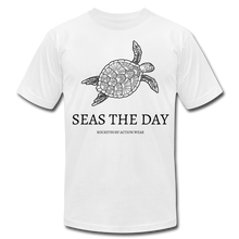 Load image into Gallery viewer, Seas The Day Unisex T-Shirt - white